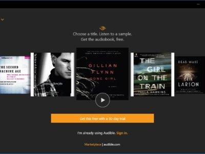 La app de Audible también llega a Windows 10, e incluye 30 días de audiolibros gratis