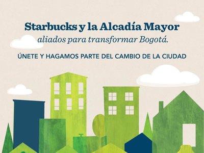 Starbucks y la Alcaldía de Bogotá se unen para cambiar la ciudad
