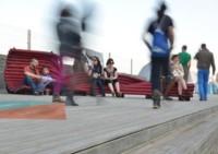 Meetube, asientos urbanos fabricados con tubos flexibles