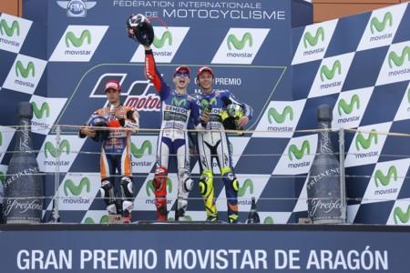 Podio Motogp Aragon 2015