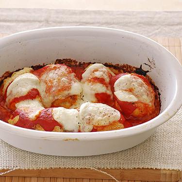 Rollitos de pollo rellenos de mozzarella al horno: receta fácil
