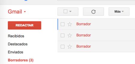 Gmail Notas Borradores
