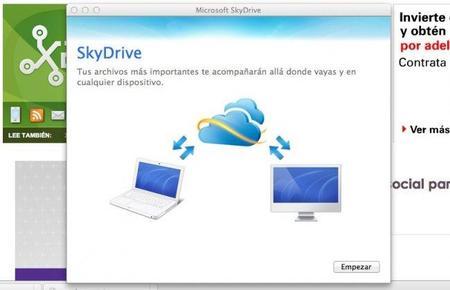 SkyDrive ya tiene sus clientes para Windows y Mac OS X