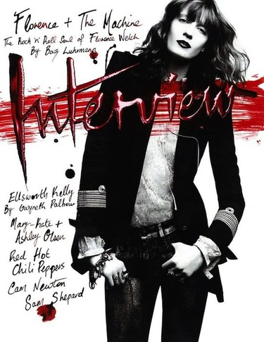 Florence Welch rockea en el nuevo número de Interview