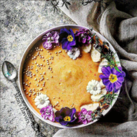 Smoothie bowl de zanahoria