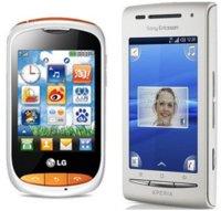 Sony Ericsson XPERIA X8 con Orange y LG Cookie Style para las tarifas Básico
