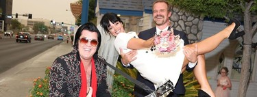 Lily Allen se casa con el actor de 'Stranger Things', David Harbour, con un look de lo más original que nos ha encantado