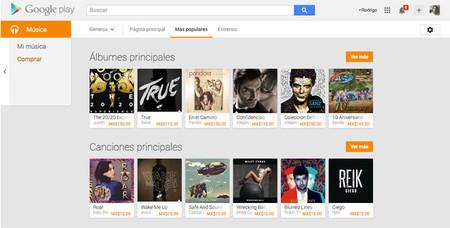 Google Play Music ahora nos permite almacenar hasta 50,000 canciones de forma gratuita