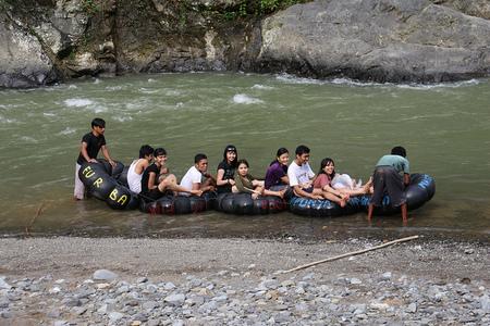 Rafting en el río Bohorok Sumatra