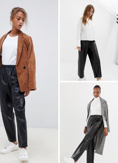 pantalones piel lowcost asos
