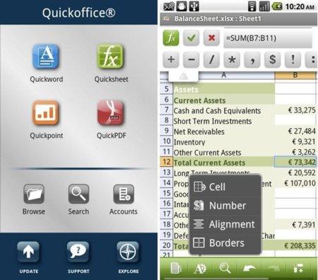 Quickoffice Pro para Android se actualiza para facilitar aún más la edición de archivos ofimáticos