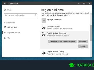 Cómo cambiar el idioma por defecto de Windows 10