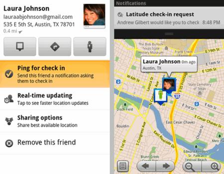 Google Maps 5.2 para Android añade Twitter a Latitude para notificar tu ubicación