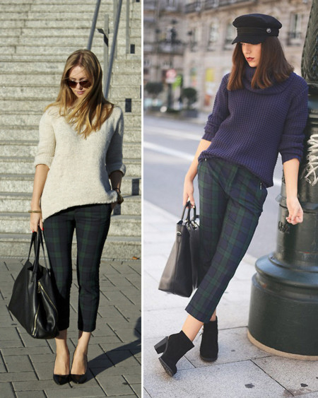Pantalones Zara cuadros