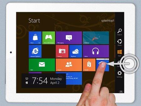 Windows 8 y su interfaz Metro funcionando en un iPad