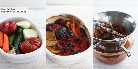 Receta de Salsa de tomates asados paso a paso