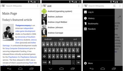 Wikipedia para Android, estrena nuevo diseño, soporte para edición y más