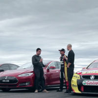 Tesla Model S vs HSV GTS vs Holden Commodore V8 Super Car, la carrera más impredecible