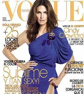 Cindy Crawford portada de Vogue España del mes de julio