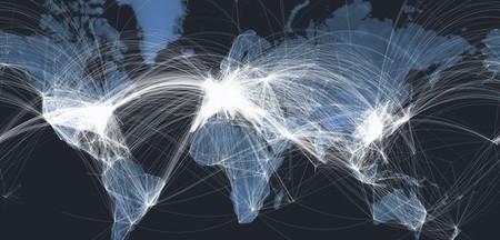 Mapa interactivo con todos los vuelos comerciales del mundo