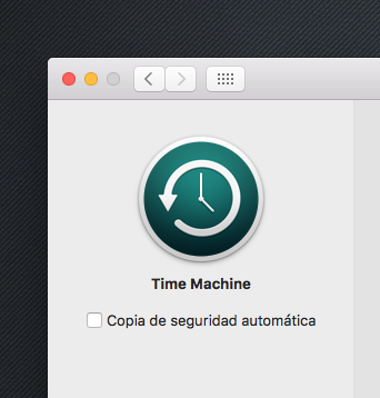 Time Machine Configuracion
