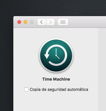Time Machine Configuracion