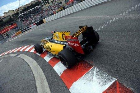 Robert Kubica volando en el GP de Mónaco 2010