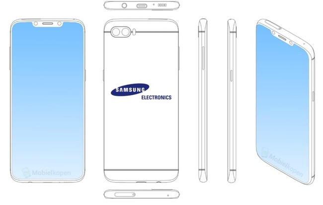 ¿Tú también, Samsung? Una patente muestra el diseño de un smartphone todo pantalla y sí, tiene notch