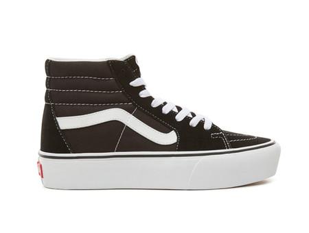 Zapatillas Casual De De Mujer Ua Sk8 Hi Platform 2 Black True Whit Vans