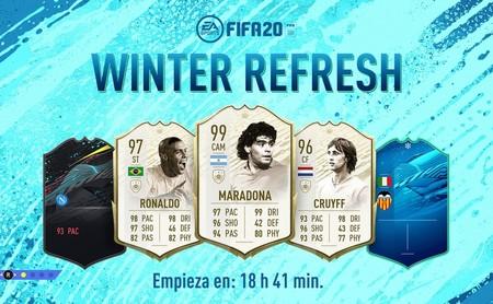 Guía FIFA 20: Winter Refresh. Todas las cartas del Equipo de Actualización de Invierno y los 89 nuevos iconos