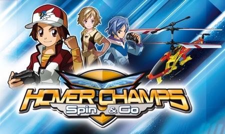 'Hover Champs' es una teleserie de competiciones de helicópteros a control remoto y también juguetes