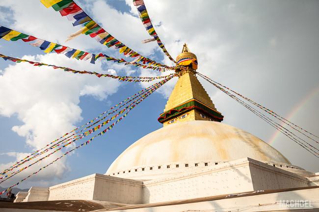 Templo De Bouddhanath Katmandu Capital De Nepal