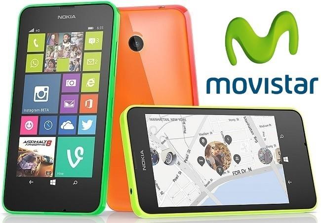 Precios Nokia Lumia 635 con tarifas Movistar