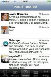 MobileTwitter: otro programa para escribir en Twitter desde tu iPhone/iPod Touch