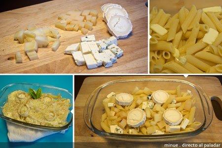 Macarrones cuatro quesos - elaboración