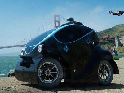 Este pequeño vehículo robótico autónomo cuenta con su propio drone y se encargará de patrullar las calles de Dubai