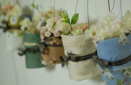 botes cristal flores
