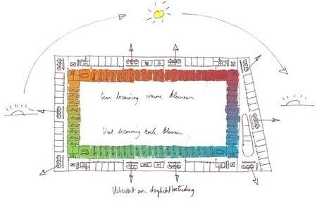 Espacios para trabajar: oficinas arcoíris - planta