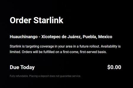 Pantalla Starlink Mexico