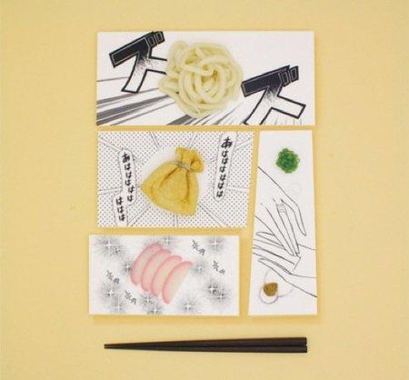 Vajilla decorada con dibujos manga para servir tu comida japonesa