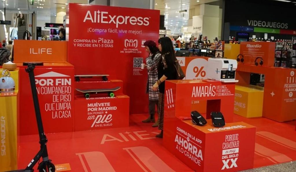 AliExpress llega a un acuerdo con El Corte Inglés para abrir alguna negocio temporal con motivo del