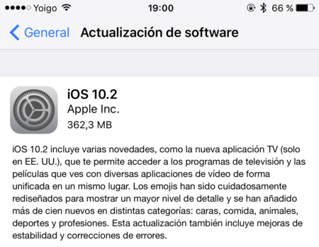 Actualizacion Ios 10.2