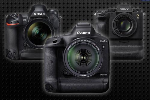 Canon EOS-1D X Mark III frente a Nikon D6 y Sony A9 II (y a su antecesora)