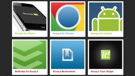 Scoop.it lanza su extensión oficial para Chrome y una página con todos los complementos que tiene