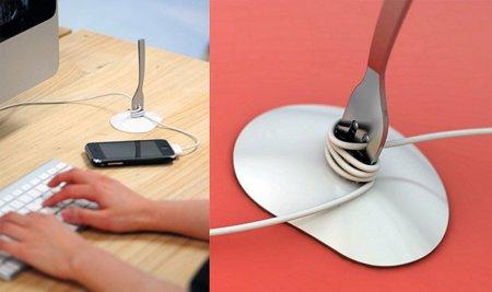 Dos modos muy originales de recoger tus cables