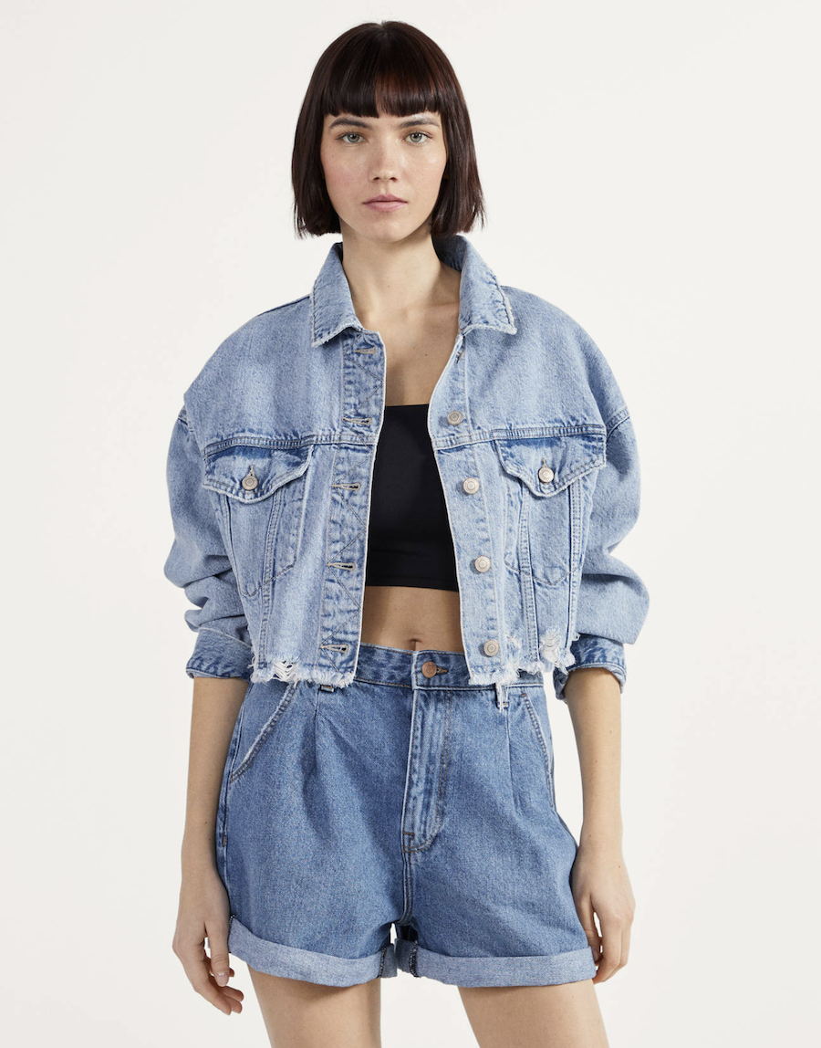 Short denim Mom Fit