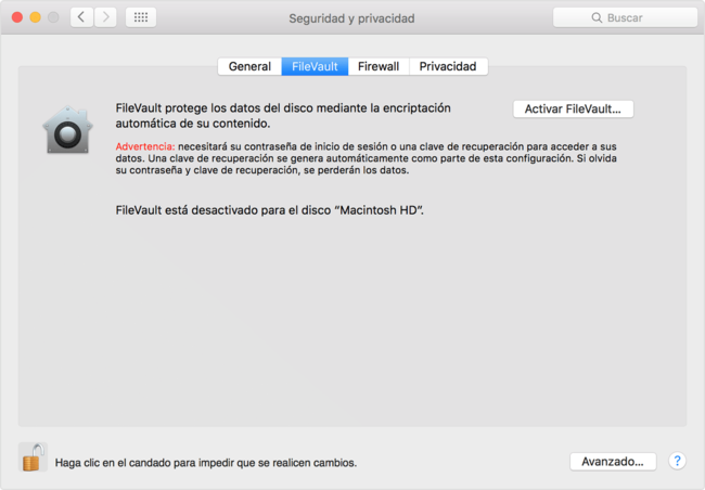 Osx Elcapitan Security Privacy Filevault