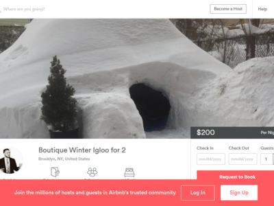 Crear iglús y alquilarlos es sólo un ejemplo de lo que puedes hacer durante una tormenta de nieve histórica
