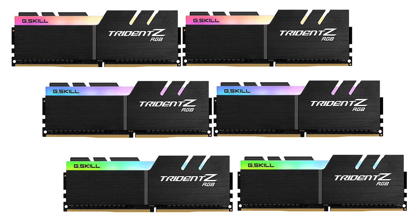 G.Skill Trident Z RGB 256 GB (8 x 32 GB) DDR4 3600 MHz CL16