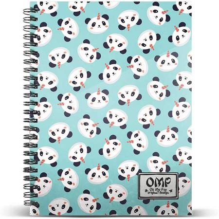 Oh My Pop! Pandicornio-Cuaderno Papel Cuadriculado DIN A4